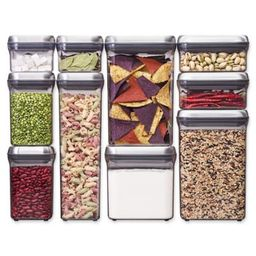 OXO Good Grips® 10-Piece Food Storage Pop Container in Stainless Steel   Bed Bath & Beyond