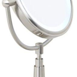 "Cordless LED Lighted Pivoting 7"" Wide Vanity Mirror | Amazon (US)"