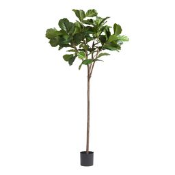6 Foot Faux Fiddle Leaf Fig Tree: Green by World Market | World Market