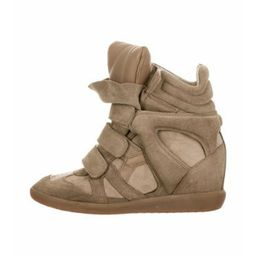 Isabel Marant Suede Wedge Sneakers Olive Isabel Marant Suede Wedge Sneakers   The RealReal