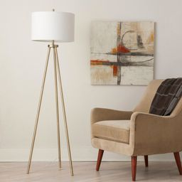Ellis Tripod Floor Lamp Brass/White (Lamp Only) - Project 62 | Target