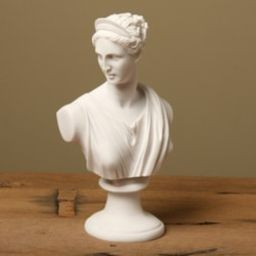 White Bonded Marble Diana Classical Bust   Overstock
