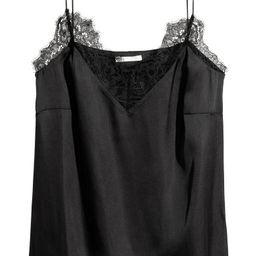 H & M - Satin Camisole Top - Black | H&M (US)