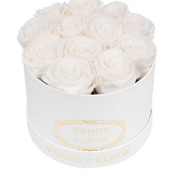 Classic Small Round Box with Pure White Roses | Saks Fifth Avenue