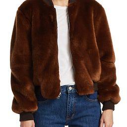 Ellington Faux Fur Bomber Jacket   Saks Fifth Avenue OFF 5TH