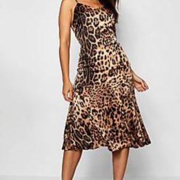 Frill Hem Leopard Print Midaxi Dress   Boohoo.com (US & CA)
