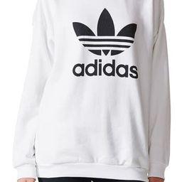 Women's Adidas Originals Trefoil Crewneck Sweatshirt, Size X-Small - White | Nordstrom