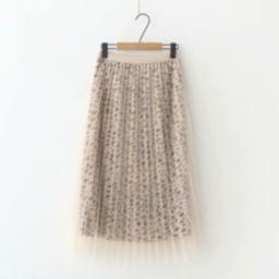 Leopard Print Mesh Overlay Skirt   SHEIN