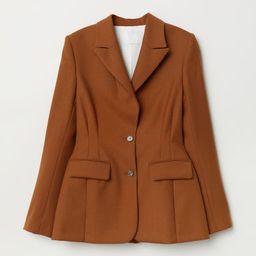 H & M - Fitted wool jacket - Beige   H&M (UK, IE, MY, IN, SG, PH, TW, HK, KR)