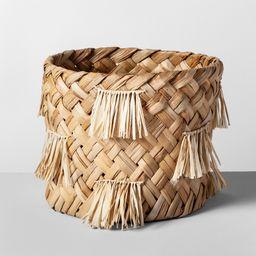 "10.5"""" x 9.5"""" Water Hyacinth Fringe Basket Natural - Opalhouse | Target"