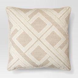 Beige Geo Patchwork Toss Throw Pillow - Threshold , White   Target
