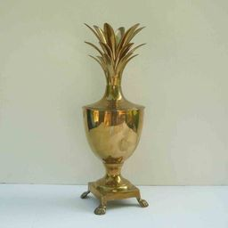 "Vintage Brass Pineapple Urn 16"" Hollywood Regency Glam Container Mid Century Ice Bucket Mantle Vase    Etsy (US)"