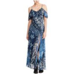 Polo Ralph Lauren Floral Cold Shoulder Maxi Dress, Blue   John Lewis UK