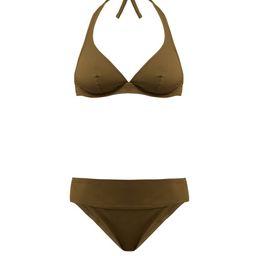 Eres - Duni Bandito Pactole Underwired Bikini Top - Womens - Khaki | Matchesfashion (Global)