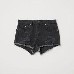 H & M - Denim Shorts Skinny Regular - Gray | H&M (US)