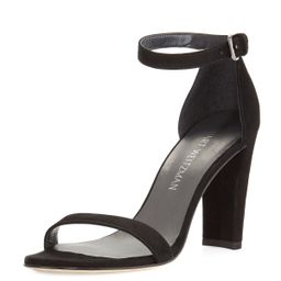 Walkway 90mm Suede Ankle-Wrap Sandal | Neiman Marcus