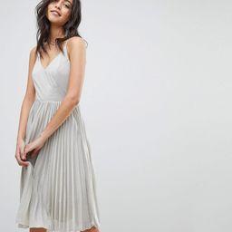 Adelyn Rae Jolene Pleated Dress - Silver | ASOS US