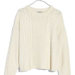 Women's Madewell Cable Knit Pullover Sweater, Size Medium - Ivory | Nordstrom