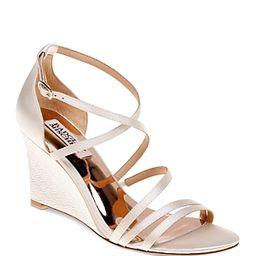 Badgley Mischka Bonanza Satin Strappy Wedge Sandals | Bloomingdale's (US)