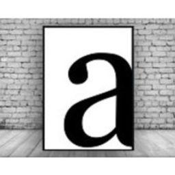 Monochrome Black White Personalised Letter Minimal Wall Print Wall Art Home Decor Interiror Design Poster Picture   Etsy (UK)