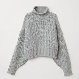 H & M - Ribbed Turtleneck Sweater - Gray | H&M (US)