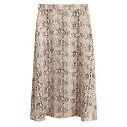 MANGO Snake print skirt   MANGO (US)