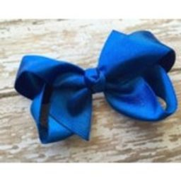 Blue silver shimmer hair bow  3 inch blue bow, satin bows, girls hair bows, boutique bows, girls bows, blue hair bows, toddler bows   Etsy (US)