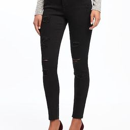 Old Navy Womens Mid-Rise Raw-Edge Rockstar Ankle Jeans For Women Blackjack Size 0 | Old Navy US