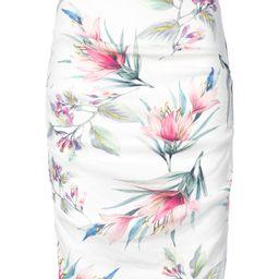 Nicole Miller floral print midi skirt - White | FarFetch US