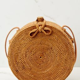 Must Have Brown Round Purse   Red Dress