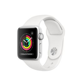 AppleWatch Series3 GPS, 38mm Silver Aluminum Case with White Sport Band | Apple (US)