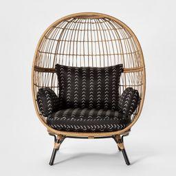 Southport Vee Stripe Patio Egg Chair - Black/White - Opalhouse | Target