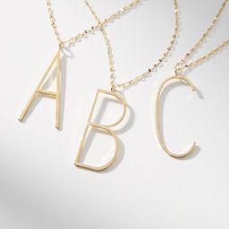 Monogram Block Letter Pendant Necklace | Anthropologie (US)