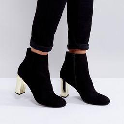 Miss KG Gold Heel Boots - Black   ASOS US