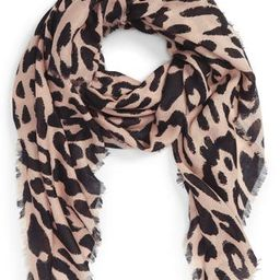 Women's Bp. Leopard Print Scarf, Size One Size - Brown   Nordstrom