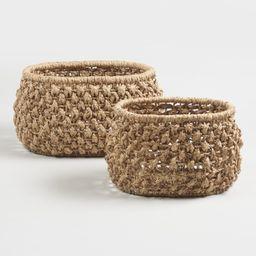 Natural Hyacinth Multiweave Grace Baskets - Natural Fiber - Small by World Market Small   World Market
