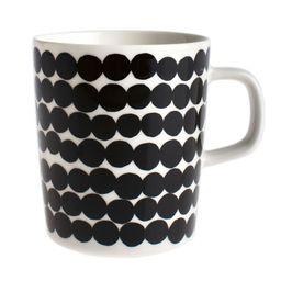 Marimekko - Siirtolapuutarha Mug - White/Black   Amara (UK)