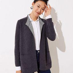 LOFT Striped Reversible Open Sweater Jacket | LOFT