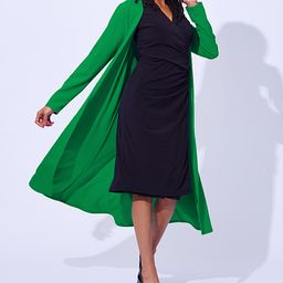 Green Crepe Long-Sleeve Duster - Women & Plus | Zulily
