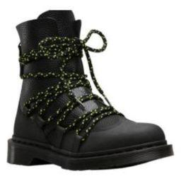 Women's Dr. Martens Zelda Combat Boot Black Ajax Embossed/Aunt Sally Tumbled Leather | Overstock