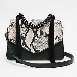 Express Womens Chain Handle Snake Print Bag Black Women's  Black   Express