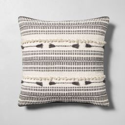 Knotted Throw Pillow Cream / Gray - Hearth & Hand with Magnolia, Gray White | Target