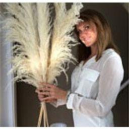 LUXE PROMO PAMPAS(6 Stem) 3 type 1 and 3 type 2 White Dried Pampas Plant Decor, Pampas Wedding Decor Bouquet, Boho Bohemian Wedding | Etsy (US)