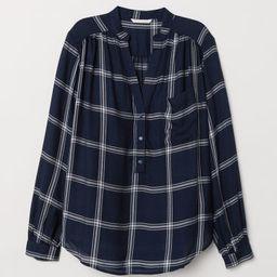 H & M - V-neck Blouse - Blue | H&M (US)