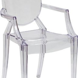 Flash Furniture Ghost Chair with Arms in Transparent Crystal   Amazon (US)