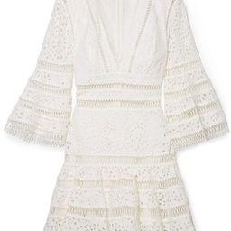 Zimmermann - Lovelorn Broderie Anglaise Cotton Mini Dress - Ivory | Net-a-Porter (US)