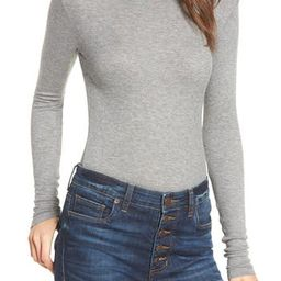 Women's Bp. Ribbed Long Sleeve Tee, Size XX-Large - Grey | Nordstrom
