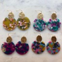 Resin Earrings, Big Earrings, Acrylic Jewelry, Statement Earrings, Gold Earrings, 21st Birthday Gift, 30th Birthday, Tortoise Shell Earrings | Etsy (US)