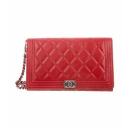 Chanel Boy Wallet On Chain Red Chanel Boy Wallet On Chain | The RealReal