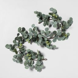 """72"""""""" Faux Garland Eucalyptus with Seeds - Hearth & Hand with Magnolia, Green 